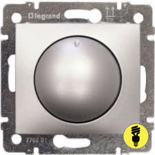 Димер Legrand Valena поворотный 400 Вт (алюминий) 770261