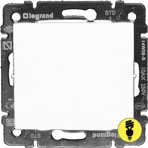 Выключатель Legrand Valena 1-клавишный (белый) 774401