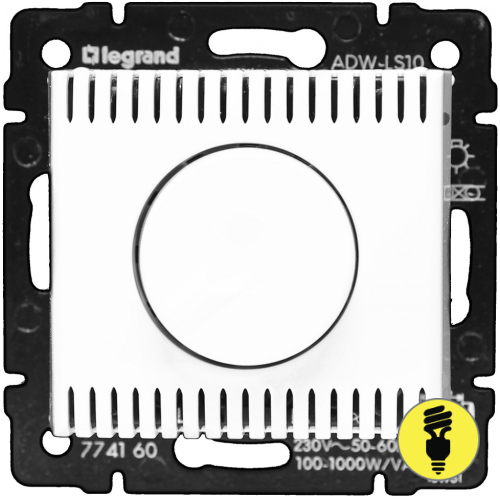 Димер Legrand Valena поворотный 1000 Вт (белый) 770060