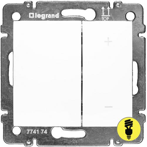 Димер Legrand Valena клавишный 600 Вт (белый) 770074