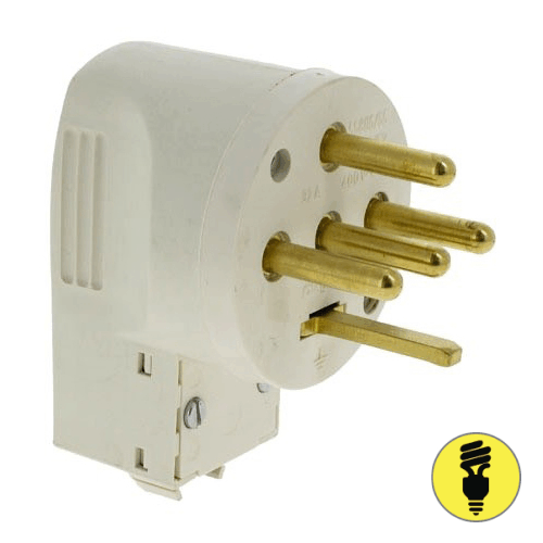 Силовая вилка Legrand 20А 3К+Н+З (ввод кабеля снизу) 55157