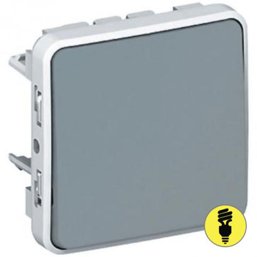 Переключатель 1-клавишный Legrand Plexo IP55, Серый, 069511