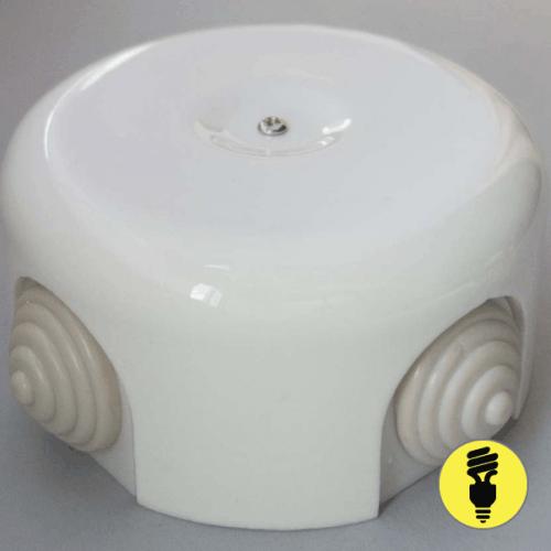 Распаечная керамическая коробка D90 Белая