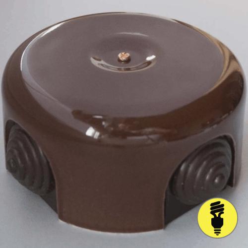 Распаечная керамическая коробка D90 Коричневая
