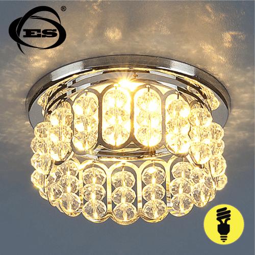 Хрустальный точечный светильник Elektrostandard 7241 MR16 CH/CL хром/прозрачный