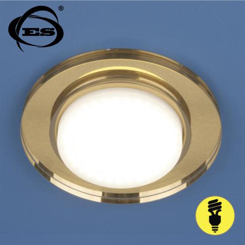 Точечный светильник Elektrostandard 8061 GX53 YL/GD зеркальный/золото