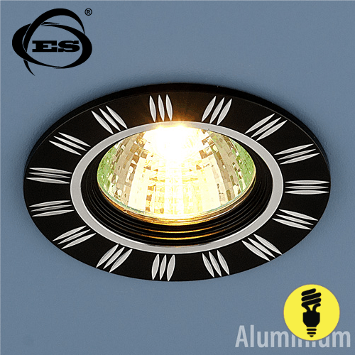 Точечный светильник Elektrostandard из алюминия 5814 MR16 BK/CH черный/хром