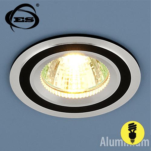 Точечный светильник Elektrostandard из алюминия 5305 MR16 CH/BK хром/черный