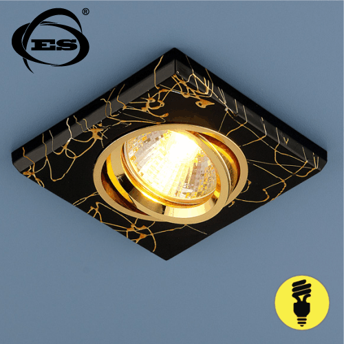 Точечный светильник Elektrostandard 2080 MR16 BK/GD черный/золото