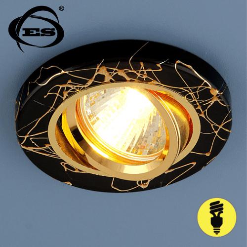 Точечный светильник Elektrostandard 2050 MR16 BK/GD черный/золото