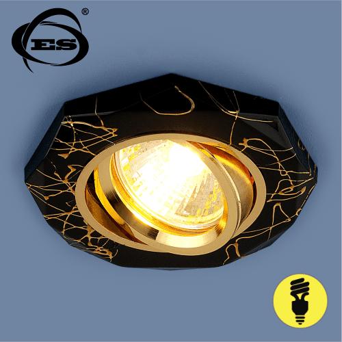 Точечный светильник Elektrostandard 2040 MR16 BK/GD черный/золото