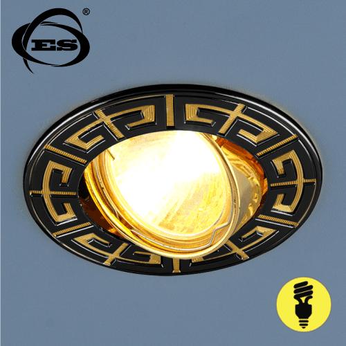 Точечный светильник Elektrostandard 120090 MR16 GU/GD черный/золото