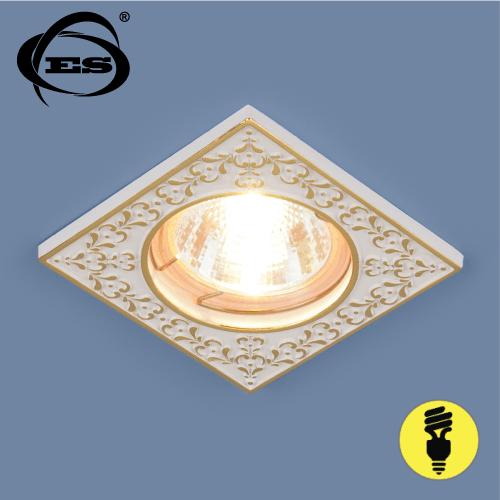Точечный светильник Elektrostandard 120071 MR16 WH/GD белый/золото