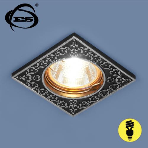 Точечный светильник Elektrostandard 120071 MR16 BK/SL черный/серебро