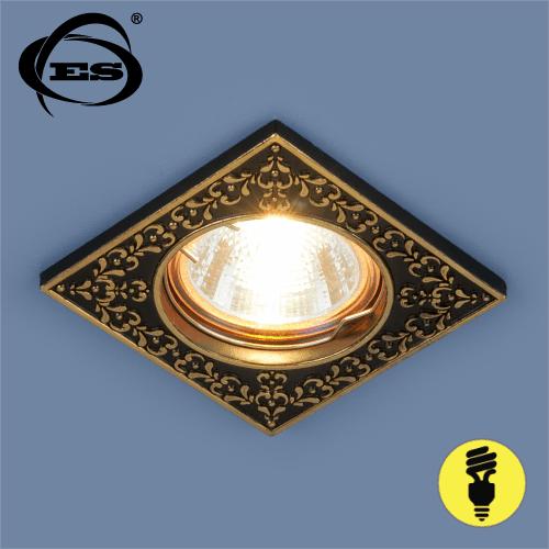 Точечный светильник Elektrostandard 120071 MR16 BK/GD черный/золото