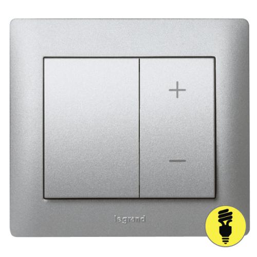 Диммер кнопочный 40-400Вт Legrand Galea Life - алюминий