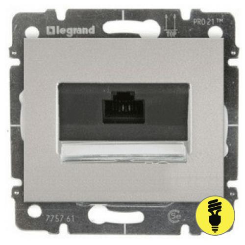 Розетка интернет ПК RJ45 CAT5 Legrand Galea Life - алюминий