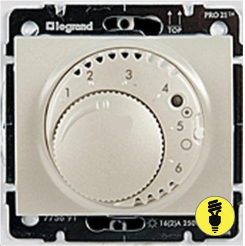 Терморегулятор для теплого пола Legrand Galea Life - перламутр