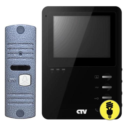 Видеодомофон с вызывной панелью CTV-DP1400M Черный
