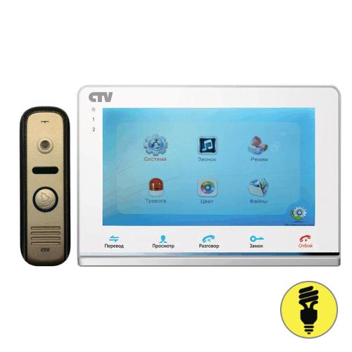 Комплект видеодомофона с вызывной панелью CTV-DP2700IP Белый