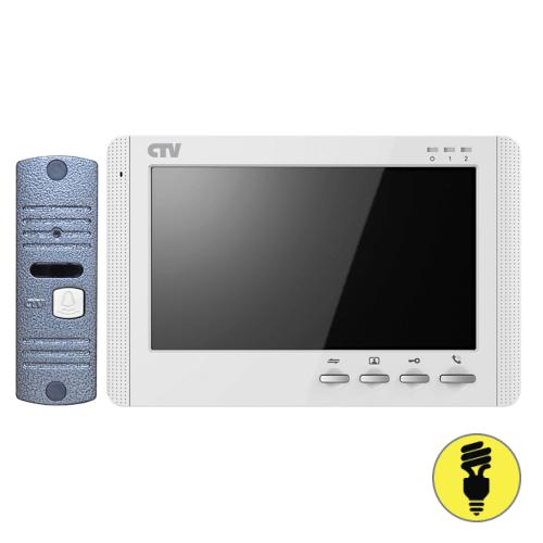 Комплект видеодомофона с вызывной панелью CTV-DP1700M Белый