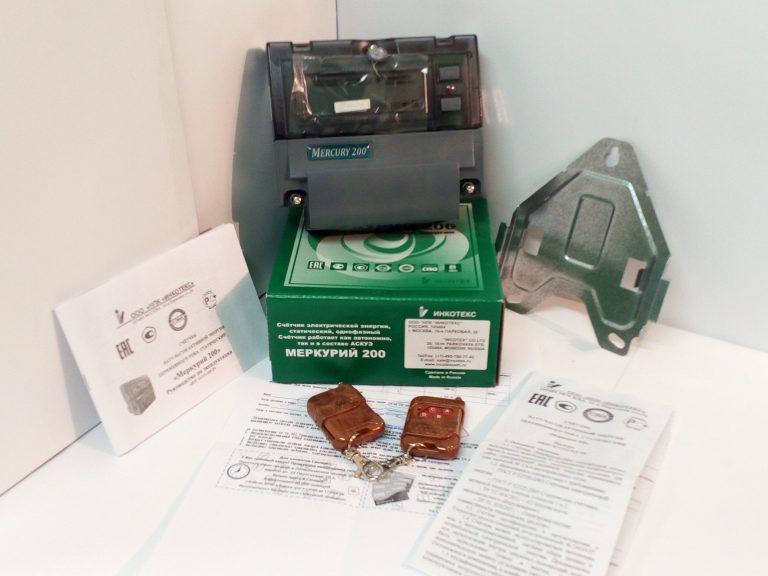 Счетчик электроэнергии Меркурий 200.02 однофазный многотарифный