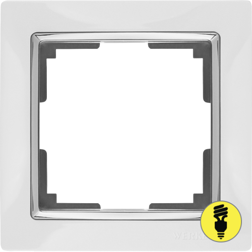 Рамка Werkel Snabb 1 пост - Белый/хром