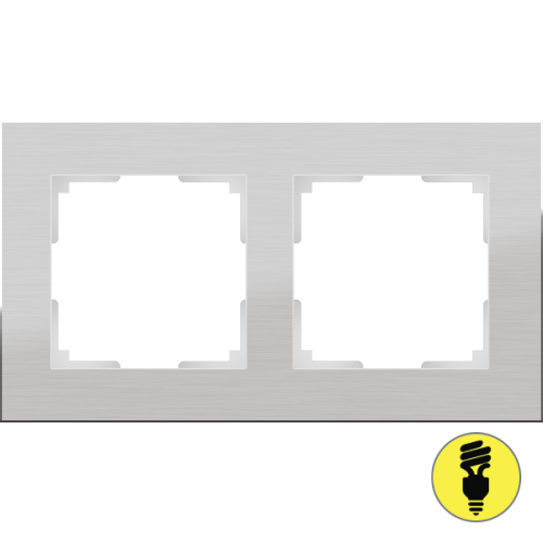 WL11-Frame-02 / Рамка 2-я Werkel Aluminium, Алюминий