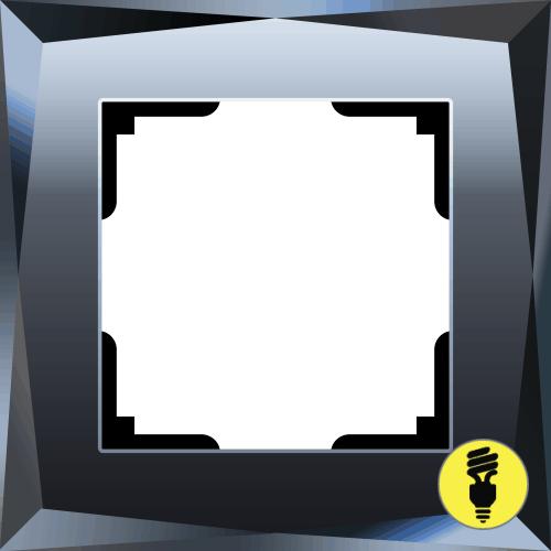 Рамка Werkel Diamant 1 пост - Черный