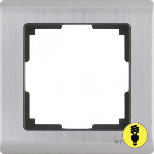 WL02-Frame-01 / Рамка 1-я Werkel Metallic, Глянцевый никель