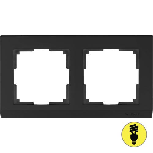 WL04-Frame-02-black / Рамка 2-я Werkel Stark, Черный матовый