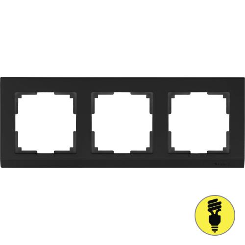 WL04-Frame-03-black / Рамка 3-я Werkel Stark, Черный матовый