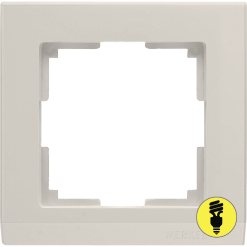 WL04-Frame-01-ivory / Рамка 1-я Werkel Stark, Слоновая кость