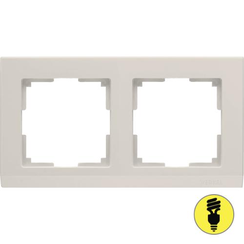 WL04-Frame-02-ivory / Рамка 2-я Werkel Stark, Слоновая кость