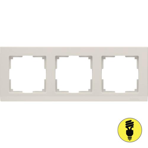 WL04-Frame-03-ivory / Рамка 3-я Werkel Stark, Слоновая кость