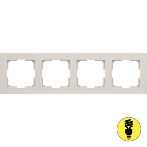WL04-Frame-04-ivory / Рамка 4-я Werkel Stark, Слоновая кость