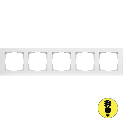 WL04-Frame-05-white / Рамка 5-я Werkel Stark, Белая