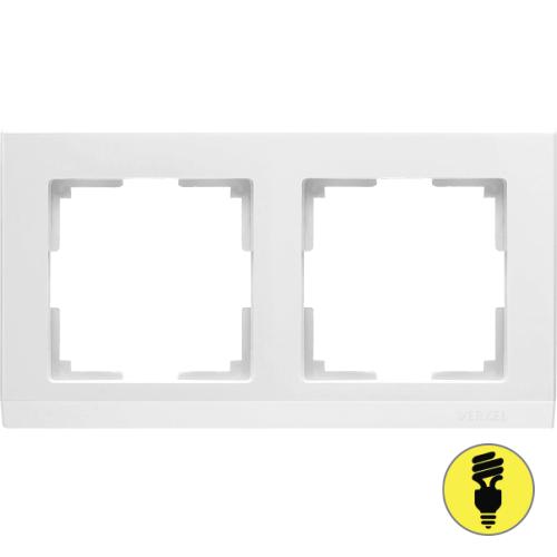 WL04-Frame-02-white / Рамка 2-я Werkel Stark, Белая