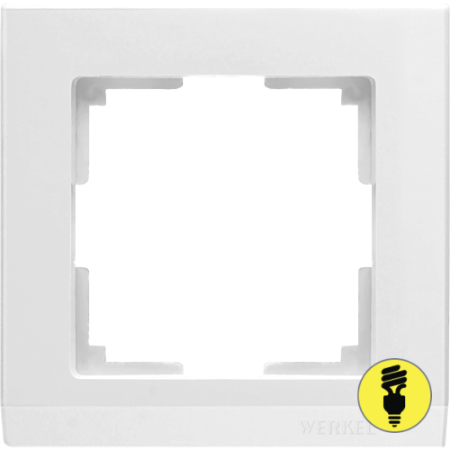 WL04-Frame-01-white / Рамка 1-я Werkel Stark, Белая