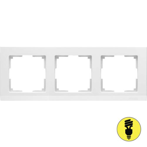 WL04-Frame-03-white / Рамка 3-я Werkel Stark, Белая