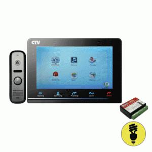 Комплект видеодомофона с вызывной панелью CTV-DP2700DAX Черный