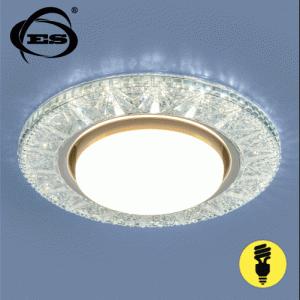 Точечный светильник Elektrostandard со светодиодами 3022 GX53 CL прозрачный