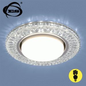 Точечный светильник Elektrostandard со светодиодами 3021 GX53 CL прозрачный