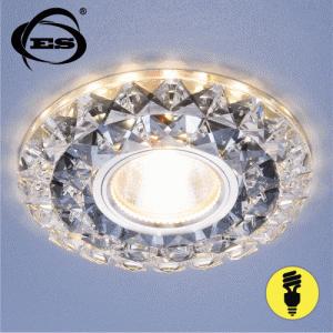 Хрустальный точечный светодиодный светильник Elektrostandard 2170 MR16 SBK/CL дымчатый/прозрачный