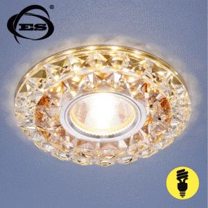 Хрустальный точечный светодиодный светильник Elektrostandard 2170 MR16 GC/CL тонированный/прозрачный