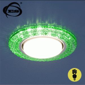 Точечный светильник Elektrostandard со светодиодами 3030 GX53 GR зеленый