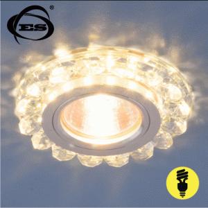 Хрустальный точечный светодиодный светильник Elektrostandard 6036 MR16 СL прозрачный