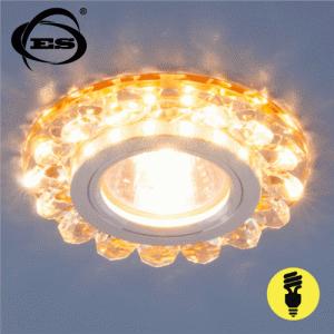 Хрустальный точечный светодиодный светильник Elektrostandard 6036 MR16 GD золото