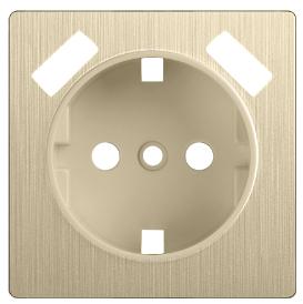 WL10-USB-CP / Накладка для USB розетки Werkel, Шампань рифленый