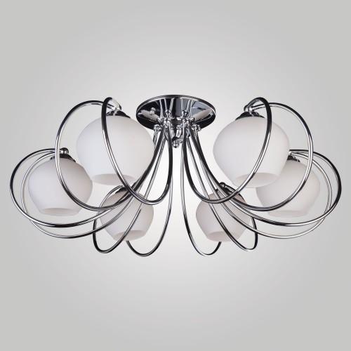 Потолочная люстра со стеклянными плафонами 7716/6 хром